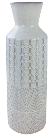 White Star Textured Stoneware Vase 44cm