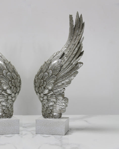 Angel Wing Décor - Antique Silver  - Right