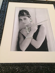 Audrey Hepburn - Bespoke Artwork with Jewels