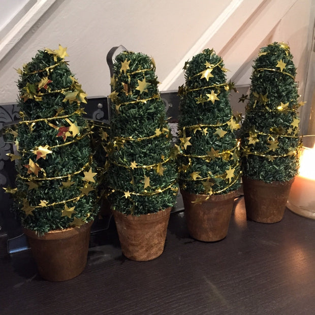 Terracotta Potted Christmas Topiary - Gold - Allissias Attic  &  Vintage French Style - 2