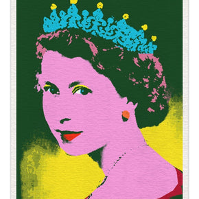 Andy Warhol Styled Jewelled & Crown  - Original Canvas Artwork