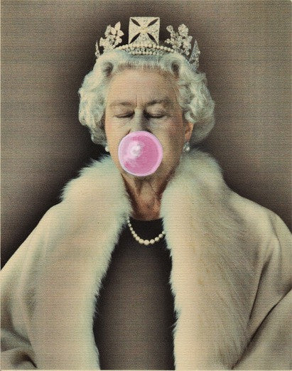 Her Majesty Pink Bubble Artwork