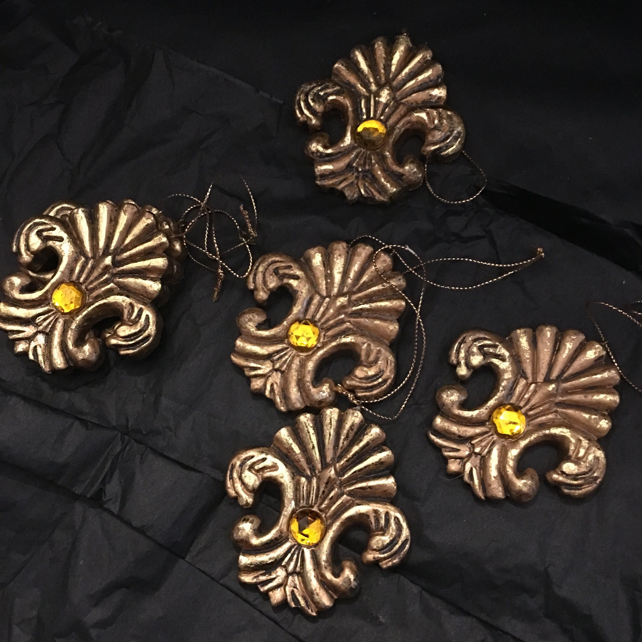 assorted-gold-decorations - Allissias Attic  &  Vintage French Style - 2