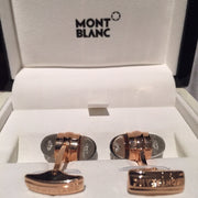 MontBlanc Rose Gold Diamond Suspended Cufflinks 18k - Allissias Attic  &  Vintage French Style - 7