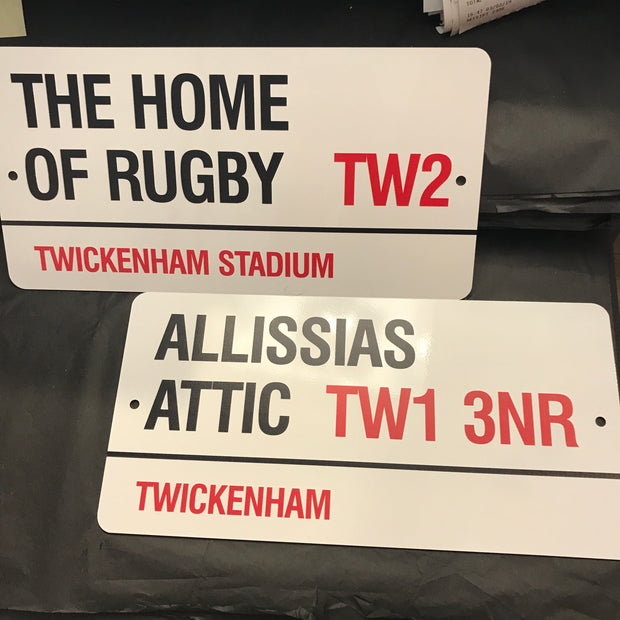 BESPOKE Twickenham TW1 & TW2 Signs -