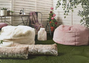 Katrina Hampton Faux Fur Beanbag - London Cream