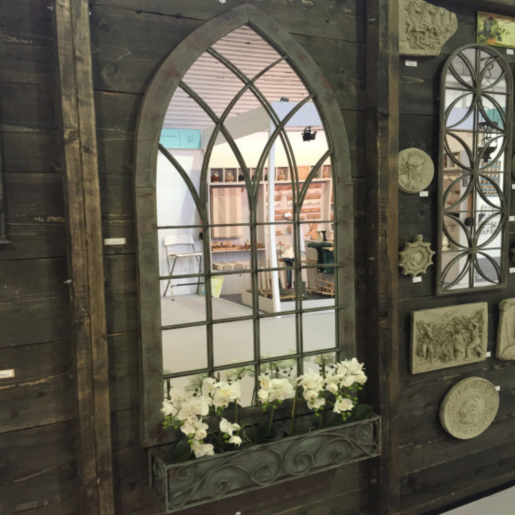 Ornate Gothic Mirror for the Garden or Patio - Allissias Attic  &  Vintage French Style - 1