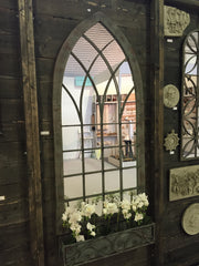 Ornate Gothic Mirror for the Garden or Patio - Allissias Attic  &  Vintage French Style - 5