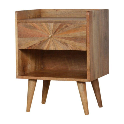 Sunburst Patterned Bedside