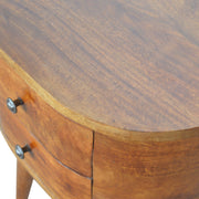 Chestnut Rounded Bedside Table