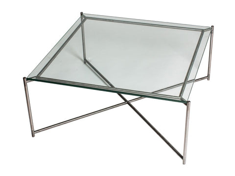 Square Coffee Table with Clear Glass Top