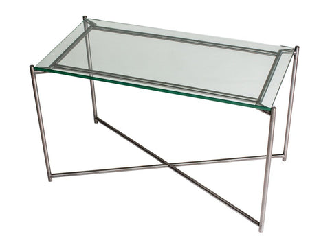 Rectangle Side Table with Glass Top
