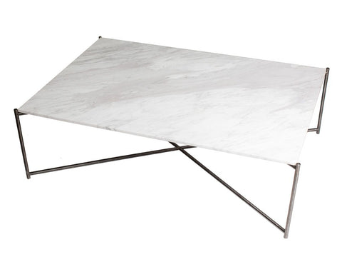 Rectangle Coffee Table with White Marble Top