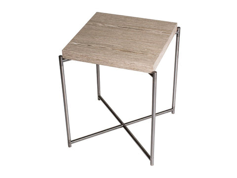 Square Side Table with Flat Top