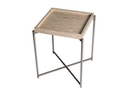 Square Side Table with Tray Top