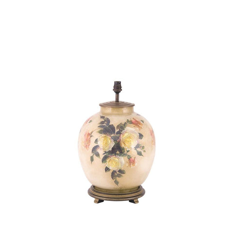 Classic Rose Large Round Lamp Base - Allissias Attic  &  Vintage French Style - 2