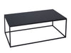 Black Glass Coffee Table on Metal Base - Rectangle