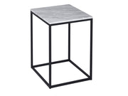 Square White Marble - Side Table or Lamp Stand