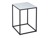 Square White Glass - Side Table or Lamp Stand