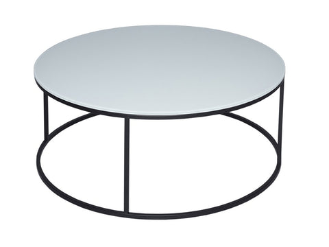White Glass Coffee Table