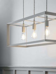 Brunswick Pendant Light in Chalk, Large