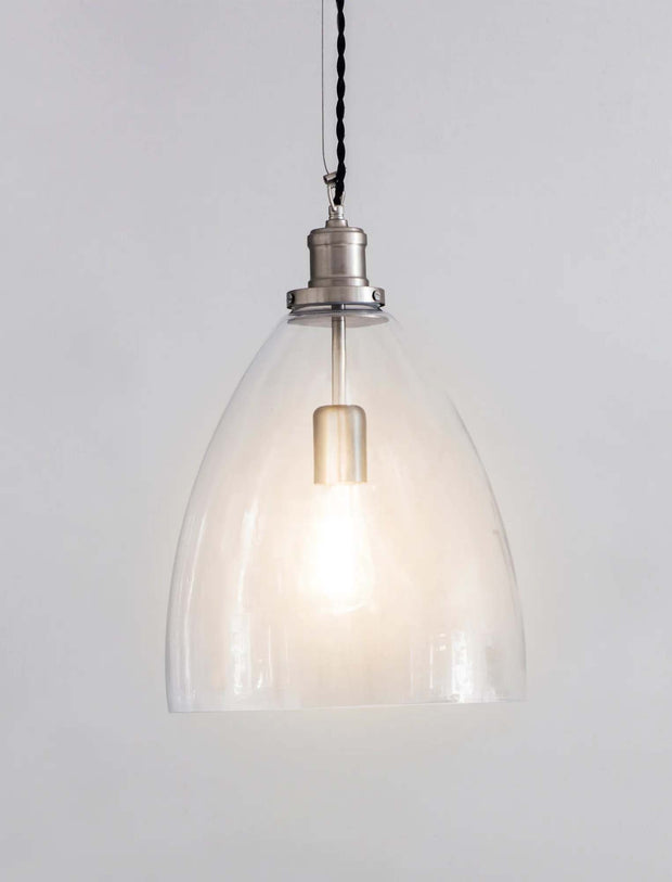 Hoxton Bullet Pendant Light - Satin Nickel