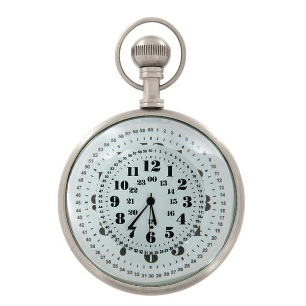 Magnified Ball Clock - Pewter