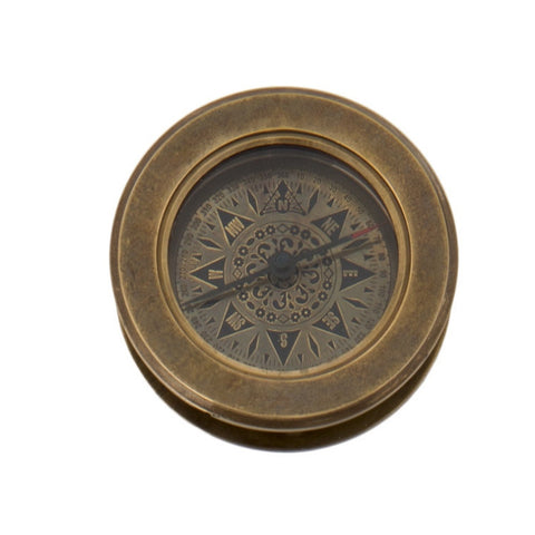 Compass with Hidden Magnifying Glass - Allissias Attic  &  Vintage French Style - 1
