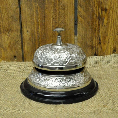 Silver Nickel Embossed Counter Bell