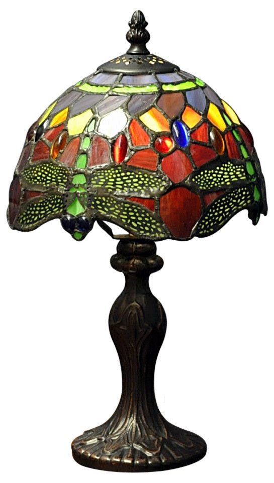 Red Dragonfly Tiffany Lamp 8