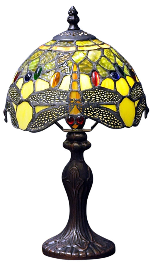 Green Dragonfly Tiffany Lamp 8