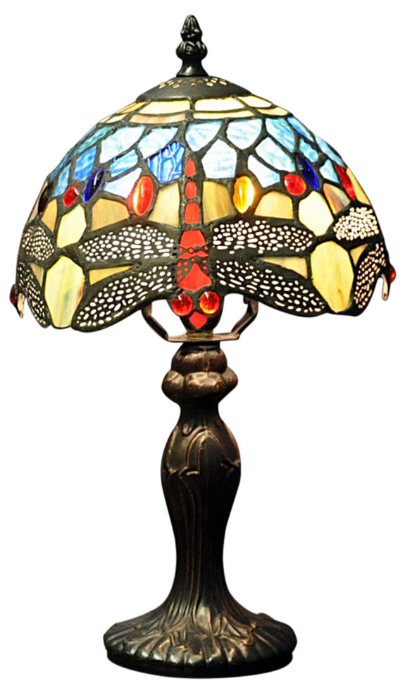 Blue Dragonfly Tiffany Lamp 8