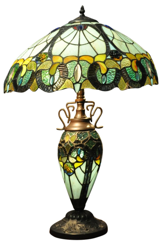 Multi Colour Double Tiffany Lamp
