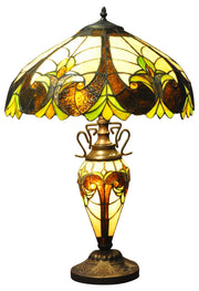 Multicoloured Double Tiffany Lamp 68cm