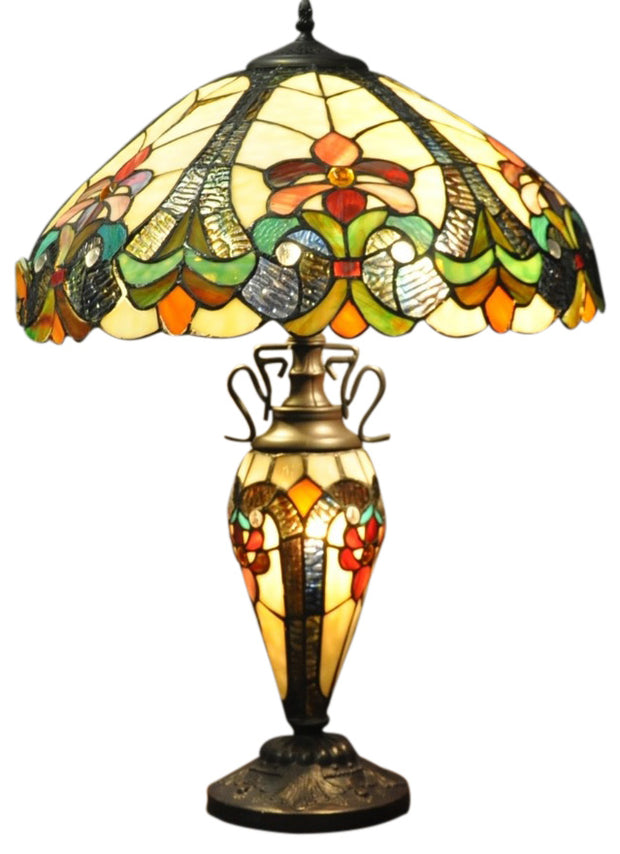 Yellow Double Tiffany Lamp 68cm