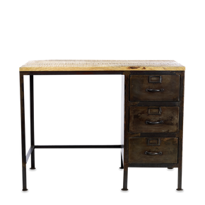 Iron & Mango Wood Industrial Desk