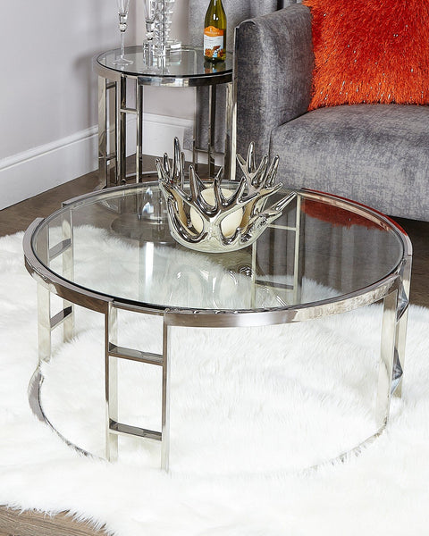 Glass & Chrome Coffee Table