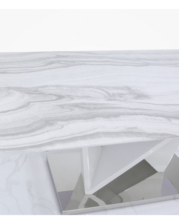 Marble Effect Rectangle Dining Table