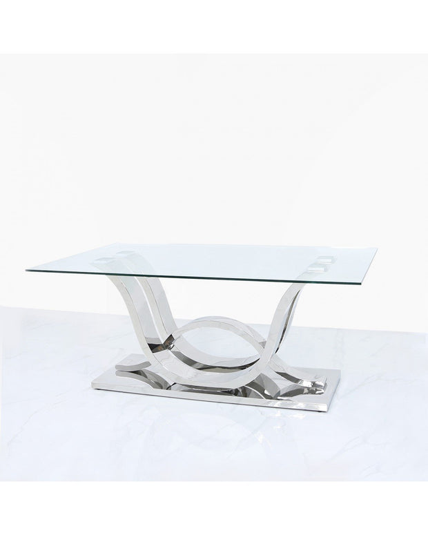 Glass & Stainless Steel Dining Table