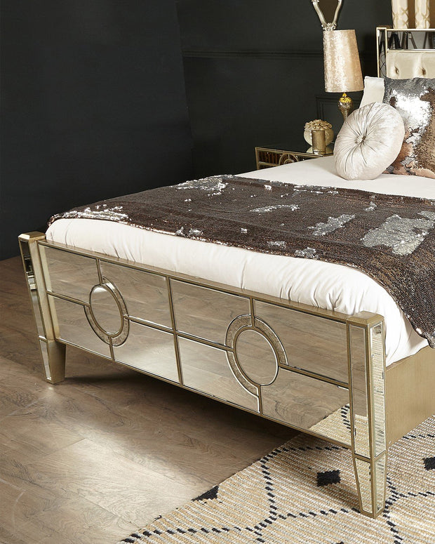 Mirror King Size Bed Frame