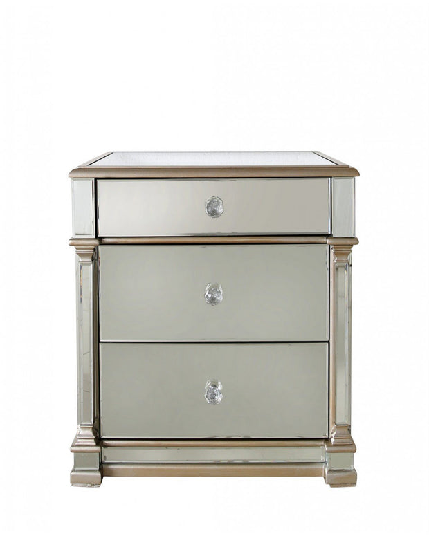 Champagne Mirrored Bedside Table