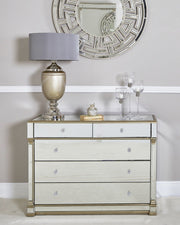 Mirror 5 Drawer Chest - Champagne