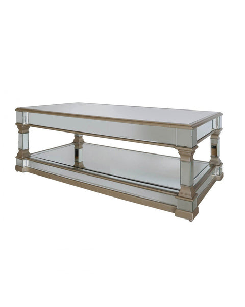 Champagne Mirror Coffee Table