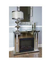 Milan Mirror Fire Surround with Electric Fire (Set)