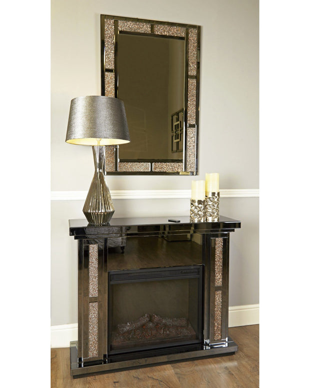 Smoked Copper Milan Fire surround with Electric Fire (Set)