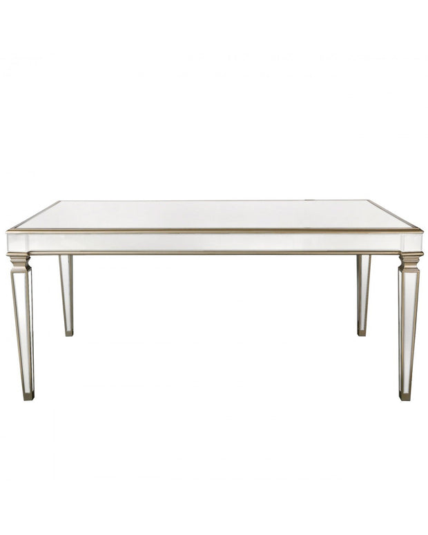 Mirror Dining Table - Champagne
