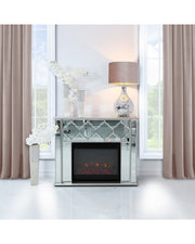 Morocco Silver Mirror Fire Surround with Electric Fire