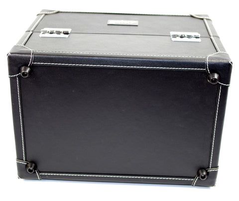 Vanity Case / Makeup Box Box Black Faux Leather