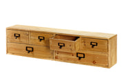 Wide 6 Drawers Wood Storage Organizer 80 x 15 x 20 cm