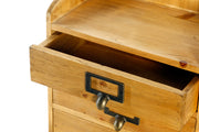 3 Drawers Rustic Wood Storage Organizer